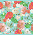 seamless watercolor floral colored pattern vector image vector image
