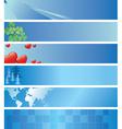 set - light blue headers vector image vector image