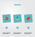 set of activity icons flat style symbols with vector image vector image