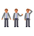 set of man expression vector image vector image