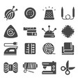 sewing and needlework tool gray icon set vector image