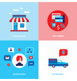 shop online set of flat design icons for your vector image