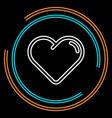 simple hearth thin line icon vector image