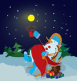 snowman with cup vector image vector image