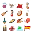 Spain icons cartoon vector image vector image