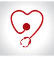 Stethoscope make a heart shape vector image