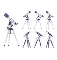 telescope optical instrument vector image