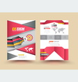 Template Cover with pieces of colored paper triang vector image vector image