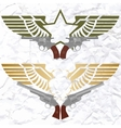 The star icon with wings and revolvers vector image vector image