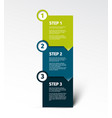 three steps vertical template vector image vector image