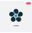 two color jasmine icon from nature concept vector image vector image