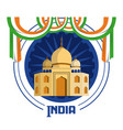 welcome to india card vector image
