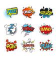 bang comic bubble speech and smash omg and pow vector image