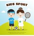 cute cartoon style kids sports vector image