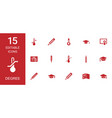 15 degree icons vector image vector image