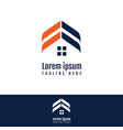 abstract and modern design for real estate symbol vector image vector image