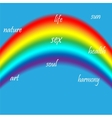 Abstract image flag of the LGBT community vector image vector image