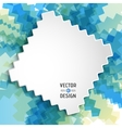 Abstract White Text Design Box on Zigzag Line vector image