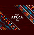 africa day card traditional african art vector image