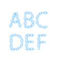 Alphabet of Air Bubbles vector image