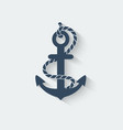 anchor nautical symbol vector image vector image