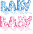 Baby design elements vector image