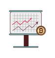 bitcoin board presentation investment icon vector image vector image