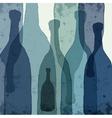 Blue bottles vector image vector image