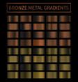 bronze copper metal gradient colorful vector image