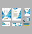 business presentation infographic elements vector image vector image