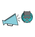 cartoon megaphone cinema movie icon vector image vector image