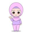 cartoons muslim women pointing daily fun vector image vector image