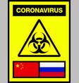 china and russia novel coronavirus 2019-ncov vector image vector image