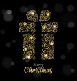 christmas card luxury gold and black gift box vector image vector image