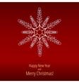 Christmas snowflakes New Year card vector image
