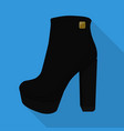 chunky woman boots isolated flat icon vector image
