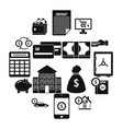 credit icons set simple style vector image
