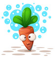cute ctazy carrot - cartoon vector image