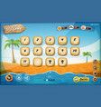 desert island game user interface design vector image vector image