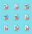 document icons icon set in flat design style vector image