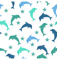 dolphin seamless pattern vector image