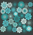 Flower Background Floral Seamless Background vector image