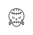 frankenstein skull trick or treat happy halloween vector image vector image