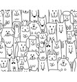 funny dogs family seamless pattern for your vector image vector image
