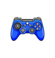 game controller icon isolated digital gamepad vector image