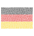 german flag collage of eco text items vector image