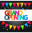 Grand Opening Retro Colorful Title with Colorful vector image vector image