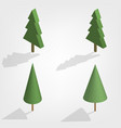 green trees in 3d vector image vector image