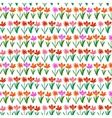 Grunge pattern with small hand drawn flowers vector image