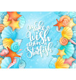hand lettering phrase vector image vector image